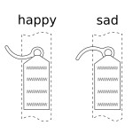 Happy and sad pin orientation.