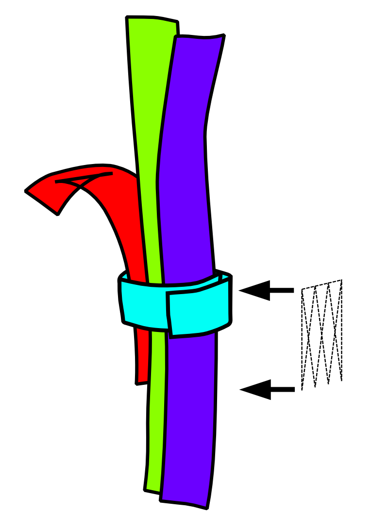 Sketch of a joint with a confluence wrap